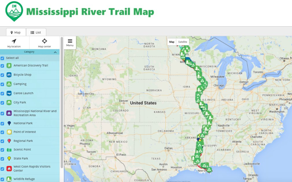 mrt mississippi trail vertices gis trail map hiking boat
