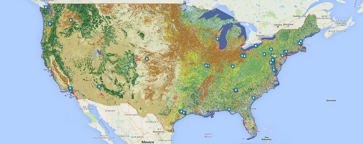 Rain Barrel Registry Map